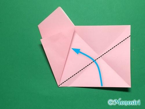 折り紙で立体的な桜の花びらの作り方手順9
