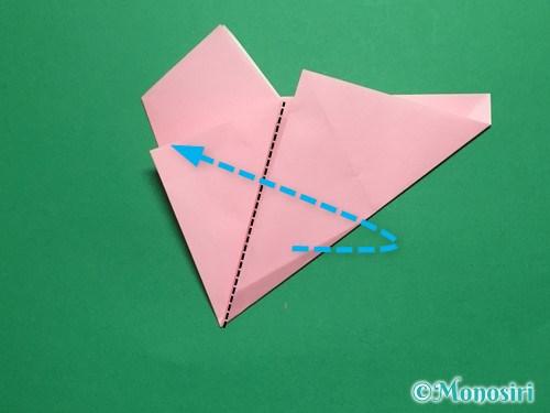 折り紙で立体的な桜の花びらの作り方手順11