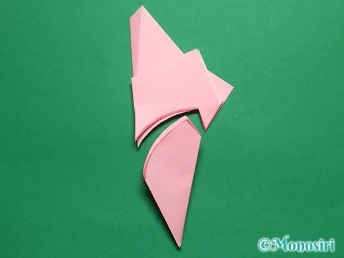 折り紙で立体的な桜の花びらの作り方手順14