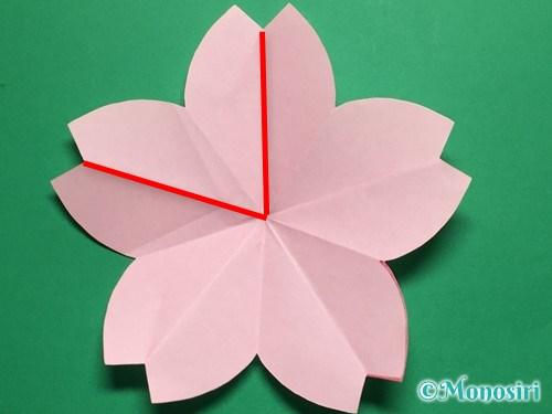 折り紙で立体的な桜の花びらの作り方手順16