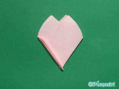折り紙で立体的な桜の花びらの作り方手順31
