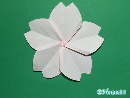 折り紙で立体的な桜の花びらの作り方手順34