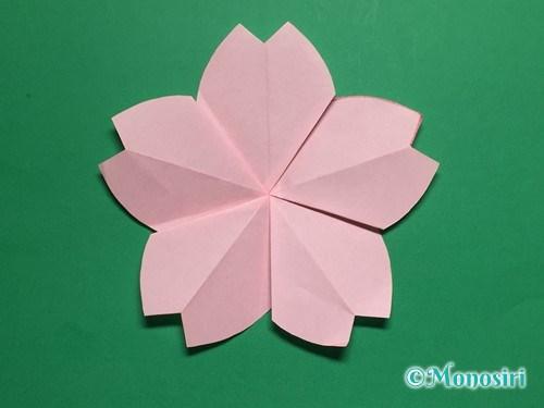 折り紙で立体的な桜の花びらの作り方手順35