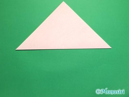 折り紙で桃の花の折り方手順2