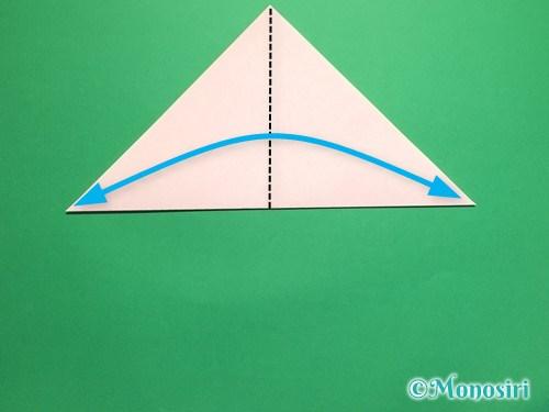 折り紙で桃の花の折り方手順3