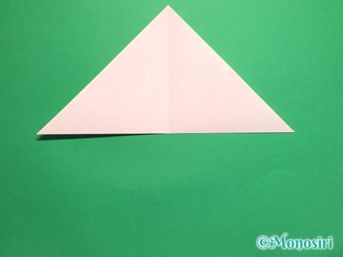 折り紙で桃の花の折り方手順4