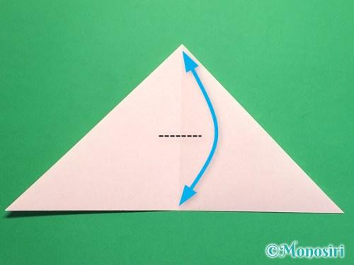 折り紙で桃の花の折り方手順5