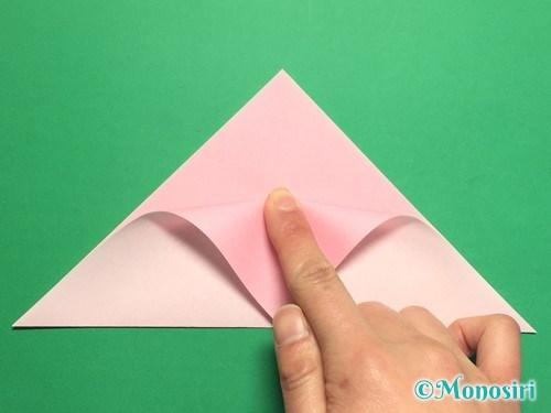 折り紙で桃の花の折り方手順6