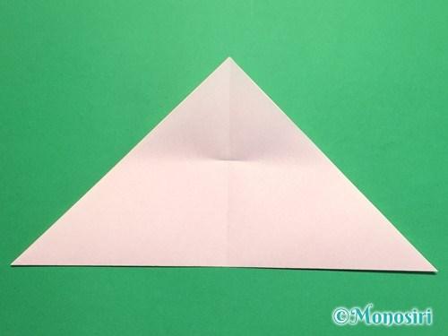 折り紙で桃の花の折り方手順7