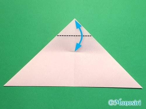 折り紙で桃の花の折り方手順8