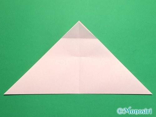 折り紙で桃の花の折り方手順9