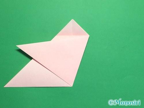 折り紙で桃の花の折り方手順11