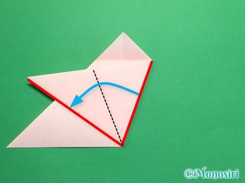 折り紙で桃の花の折り方手順12