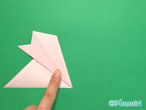 折り紙で桃の花の折り方手順13