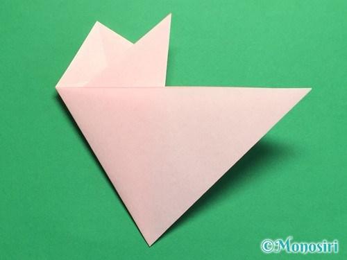 折り紙で桃の花の折り方手順14