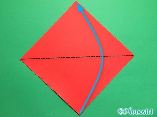 折り紙で梅の花の折り方手順1