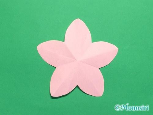 折り紙で桃の花の折り方手順19