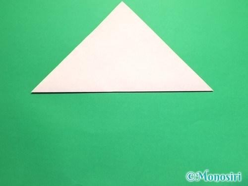 折り紙で梅の花の折り方手順2