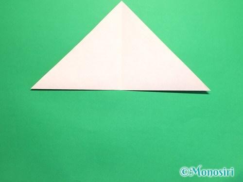 折り紙で梅の花の折り方手順4