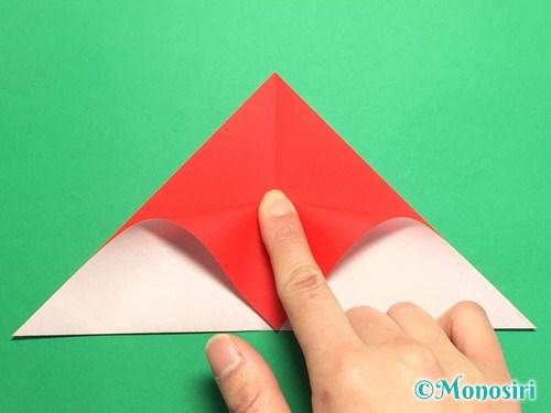 折り紙で梅の花の折り方手順6