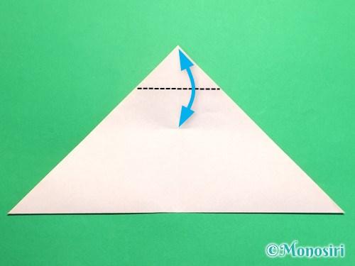 折り紙で梅の花の折り方手順8