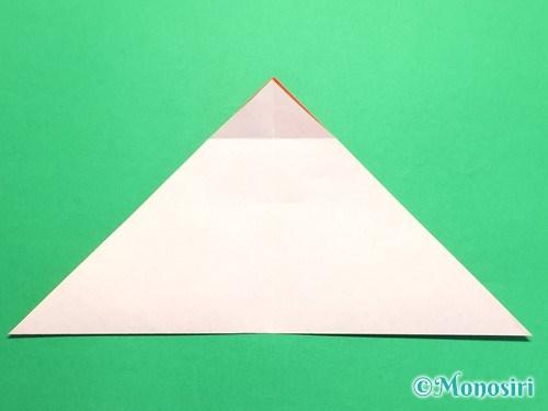 折り紙で梅の花の折り方手順9