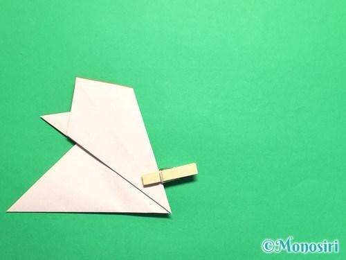折り紙で梅の花の折り方手順13