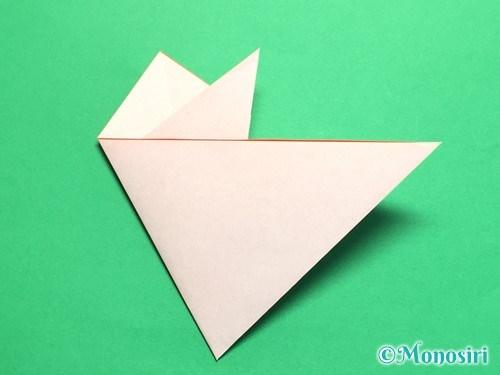 折り紙で梅の花の折り方手順14