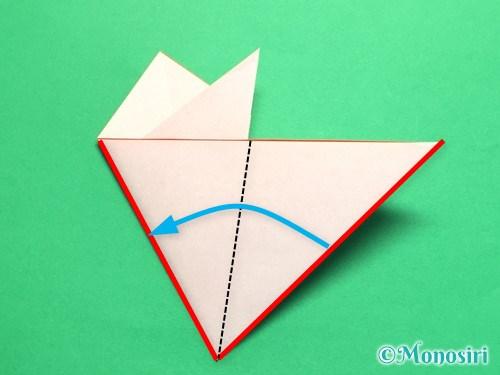 折り紙で梅の花の折り方手順15
