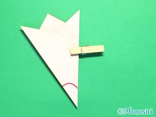 折り紙で梅の花の折り方手順17