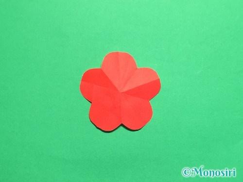 折り紙で梅の花の折り方手順19