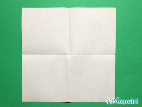 折り紙で立体的なチューリップの折り方手順2