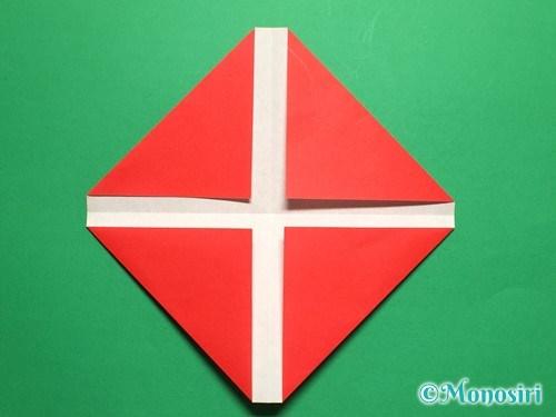 折り紙で立体的なチューリップの折り方手順4