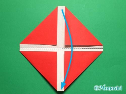 折り紙で立体的なチューリップの折り方手順5