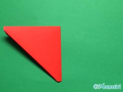 折り紙で立体的なチューリップの折り方手順8