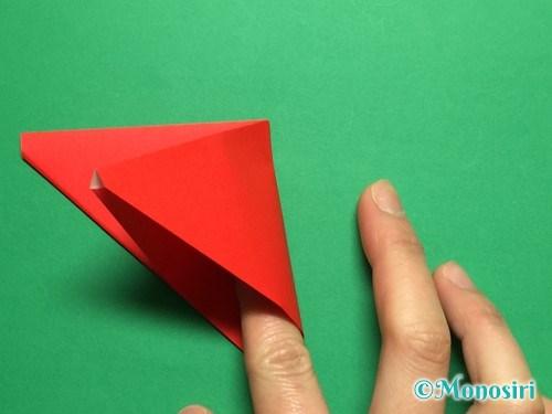 折り紙で立体的なチューリップの折り方手順9