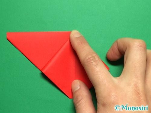 折り紙で立体的なチューリップの折り方手順11