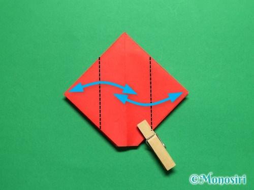 折り紙で立体的なチューリップの折り方手順14