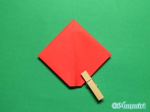 折り紙で立体的なチューリップの折り方手順13