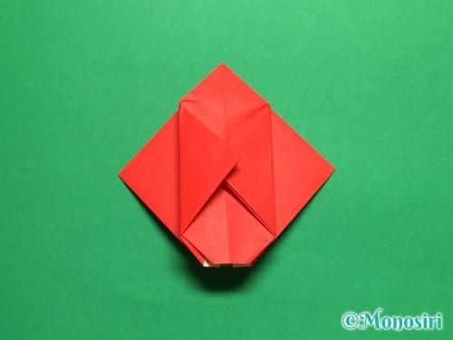 折り紙で立体的なチューリップの折り方手順15