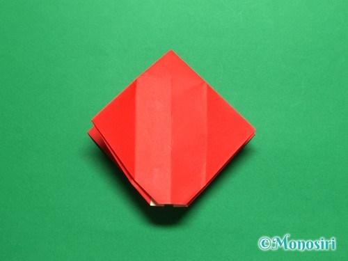 折り紙で立体的なチューリップの折り方手順16