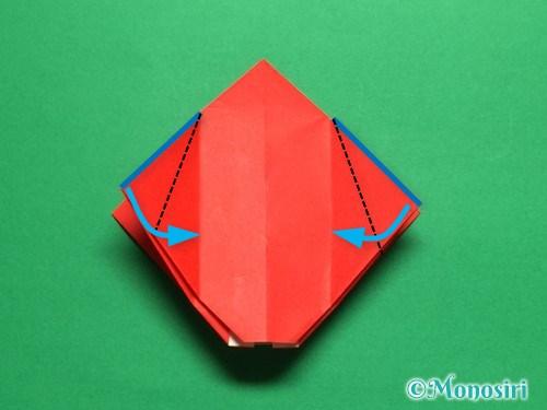 折り紙で立体的なチューリップの折り方手順17