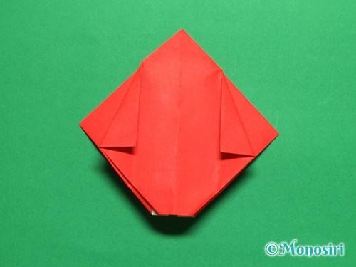 折り紙で立体的なチューリップの折り方手順18