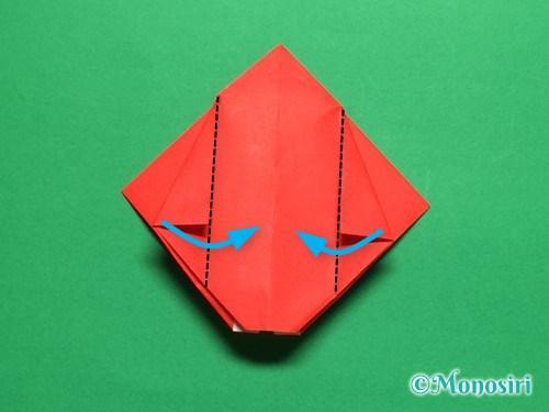 折り紙で立体的なチューリップの折り方手順19