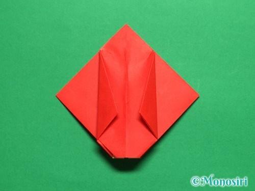 折り紙で立体的なチューリップの折り方手順20