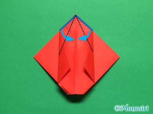 折り紙で立体的なチューリップの折り方手順21