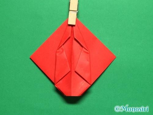 折り紙で立体的なチューリップの折り方手順22