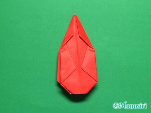 折り紙で立体的なチューリップの折り方手順23