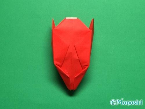 折り紙で立体的なチューリップの折り方手順27