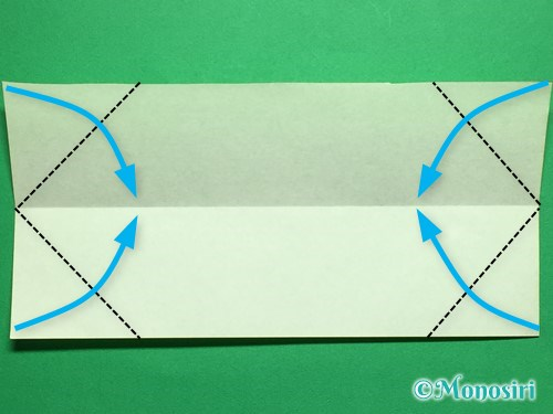折り紙で立体的なチューリップの折り方手順42